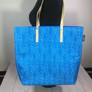 Lancome Paris Blue & Gold Tote Bag